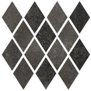 Mozaika Cir Materia Prima black storm rombo 25x25 cm lesk 1069895
