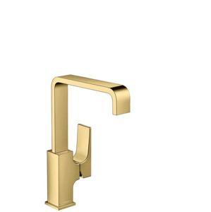Umývadlová batéria Hansgrohe Metropol s clic-clac leštěný vzhled zlata 32511990