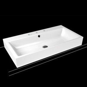 Umývadlo na dosku Kaldewei PURO 90x46 cm alpská biela tri otvory pre batériu 900806033001