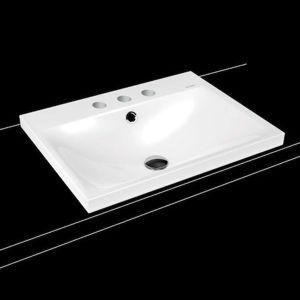 Umývadlo na dosku Kaldewei SILENIO 60x46 cm alpská biela tri otvory pre batériu 903906033001