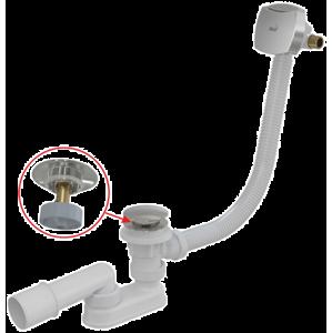 Alcaplast vaňový sifón click/clack s napúšťaním prepadom, 80 cm, chróm A508CKM80
