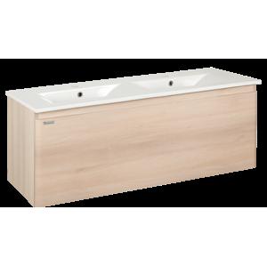 Kúpeľňová skrinka s umývadlom Naturel Ancona 120x46 cm akácie ANCONA120DV