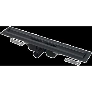 AlcaPlast žľab s okrajom, čiorná mat APZ1BLACK-750