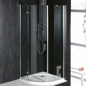 Sprchový kút Polysan štvrťkruh 90 cm, sklo číre, ľavé BN2615L