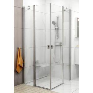 Sprchový kút Ravak Chrome štvorec 100 cm, sklo číre, biely profil 1QVA0100Z1