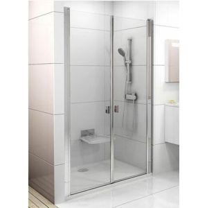 Sprchové dvere Ravak Chrome dvojkrídlové 120 cm, sklo číre, chróm profil 0QVGCC0LZ1