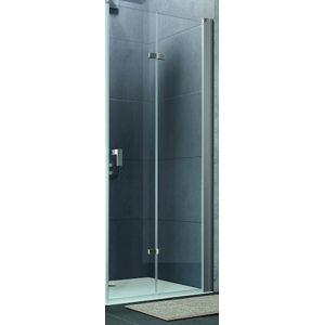 Sprchové dvere Huppe Design Pure skladací 70 cm, sklo číre, chróm profil DPUSD70190CRTP