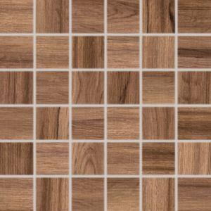 Mozaika Rako Piano hnedá 30x30 cm, lesk, rektifikovaná WDM06517.1