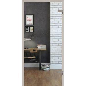 Sklenené dvere číre 80 ľavej