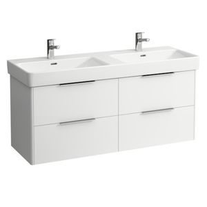 Kúpeľňová skrinka pod umývadlo Laufen Base 126x44 cm biela H4025141102611