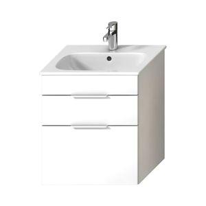 Kúpeľňová skrinka s umývadlom Jika Deep by Jika 55x60,7x43 cm biela H41J6134023001