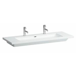 Nábytkové umývadlo Laufen Living Square 130x48 cm dva otvory pre batériu H8164360001071