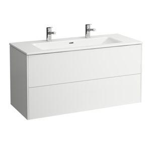 Kúpeľňová skrinka s umývadlom Laufen Base 120x61x50 cm biela lesk H8649632611041