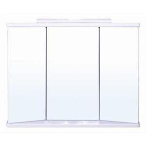 Zrkadlová skrinka s osvetlením Keramia Pro 80x65 cm biela KERAMIAG80