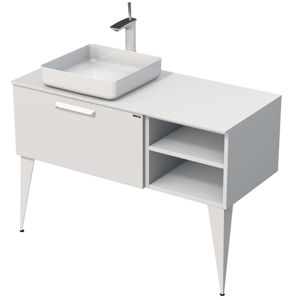 Kúpeľňová skrinka pod umývadlo Naturel Luxe 110x36x50 cm biela mat LUXE110LBMBU32