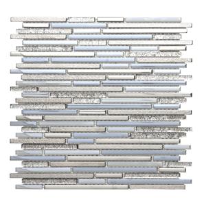 Sklenená mozaika Premium Mosaic platin 30x30 cm lesk MOSMIXPLATIN