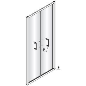 dvere ľavé TEXL90 + profil, diel B NDTEXLB90L
