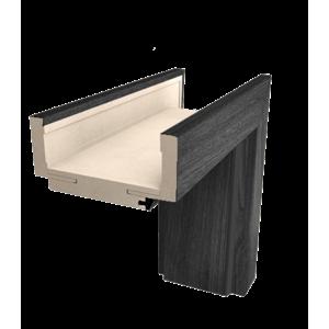 Obložková zárubňa Naturel 60 cm pre hrúbku steny 7,5-9,5 cm brest antracit ľavá O1JA60L