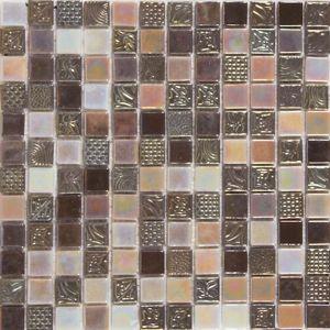 Sklenená mozaika Oriental coffee 30x30 cm lesk ORIENTALCO