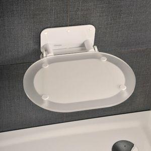 Sprchové sedadlo OVO Chrome Clear White B8F0000028