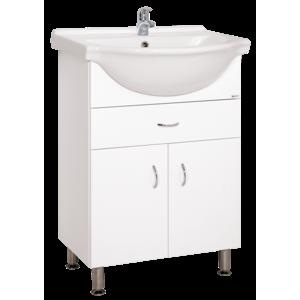 Skrinka s umývadlom Keramia Pro 61 cm, biela PRO60Z