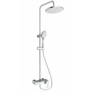 Sprchový systém Swiss Aqua Technologies s pákovou batériou biela / chróm SATSSPKP