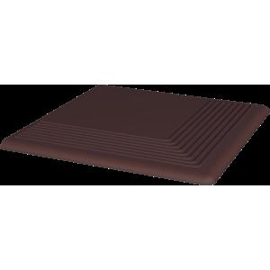 Schodovka rohová Natural brown 30x30 cm mat SCNATURALBRRH