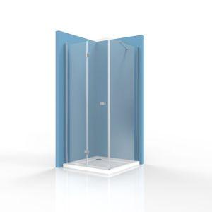 Sprchové dvere Siko SK skladací 100 cm, sklo číre, chróm profil, univerzálny SIKOSK100STENASK80