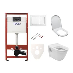 Závesný set WC Vitra S50 + modul TECE s tlačidlom TECEbase (biela) SIKOTSV0