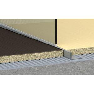 Spádový profil pravý pre sprchové kúty kartáčovaná nerez, 10 mm, 120 cm SPNRZK10120P