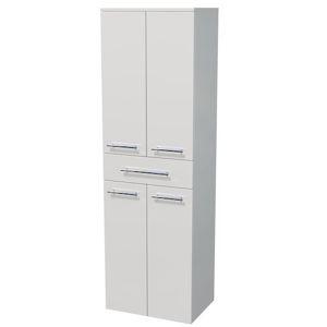 Kúpeľňová skrinka vysoká Naturel Ratio 50x162x35 cm biela lesk SV501Z4D9016G