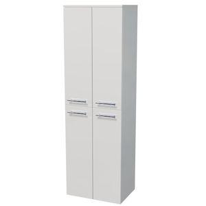 Kúpeľňová skrinka vysoká Naturel Ratio 50x162x35 cm biela lesk SV504D9016G