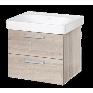 Kúpeľňová skrinka s umývadlom Naturel Vario Dekor 60x48 cm dub bardolino VARIO60ZDBDB