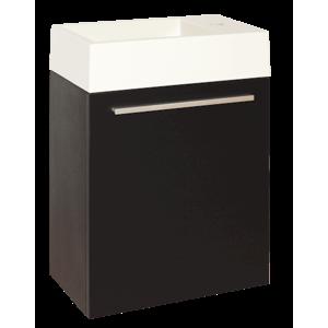 Skrinka s umývadielkom Naturel Verona 46 cm, čierna VERONA46DV