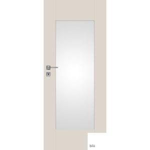 Interiérové dvere NATUREL Evan3, 70 cm, biele, lak, pravé, WC, EVAN370P