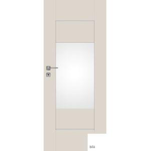 Interiérové dvere NATUREL Evan4, 60 cm, biele, lak, ľavé, WC, EVAN460L