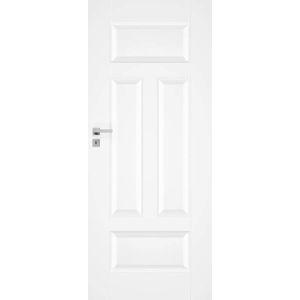 Interiérové dvere NATUREL Nestra3, 70 cm, biele, lak, ľavé, WC, NESTRA370L