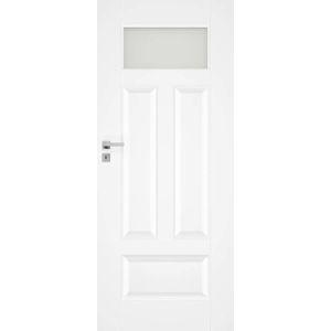 Interiérové dvere NATUREL Nestra4, 80 cm, biele, lak, ľavé, WC, NESTRA480L